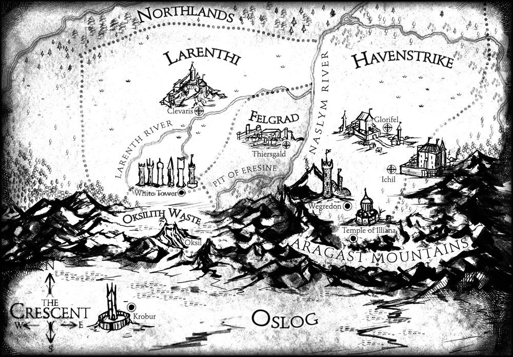 Black and white country map Tolkien style close up details pencil and ink work dungeons and dragons roleplaying