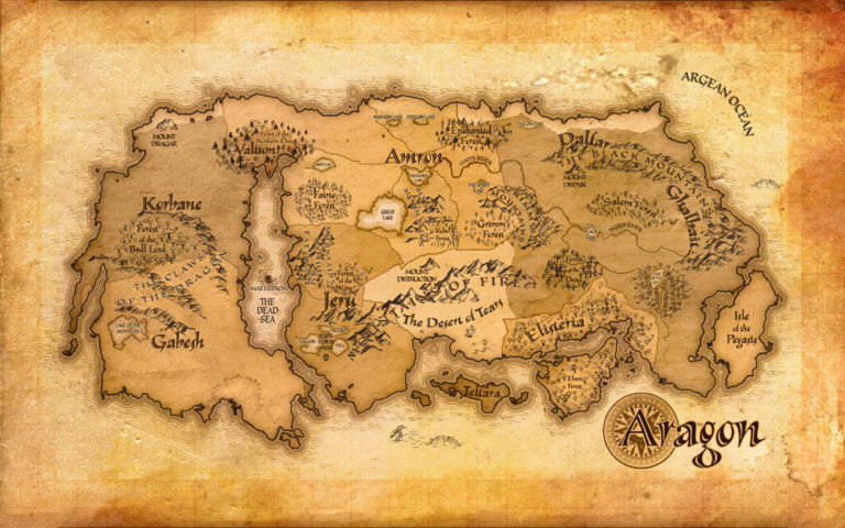 Map of Aragon – classic fantasy style country map