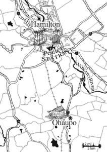 Lineart for Hamilton roads New Zealand fantasy map