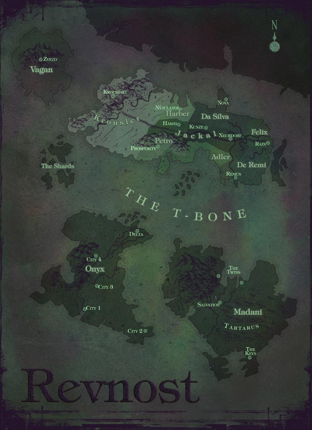 Revnost dark purple post apocalyptic map