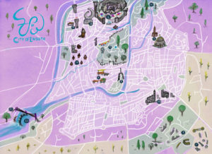 Endoth city map purple city fantasy map