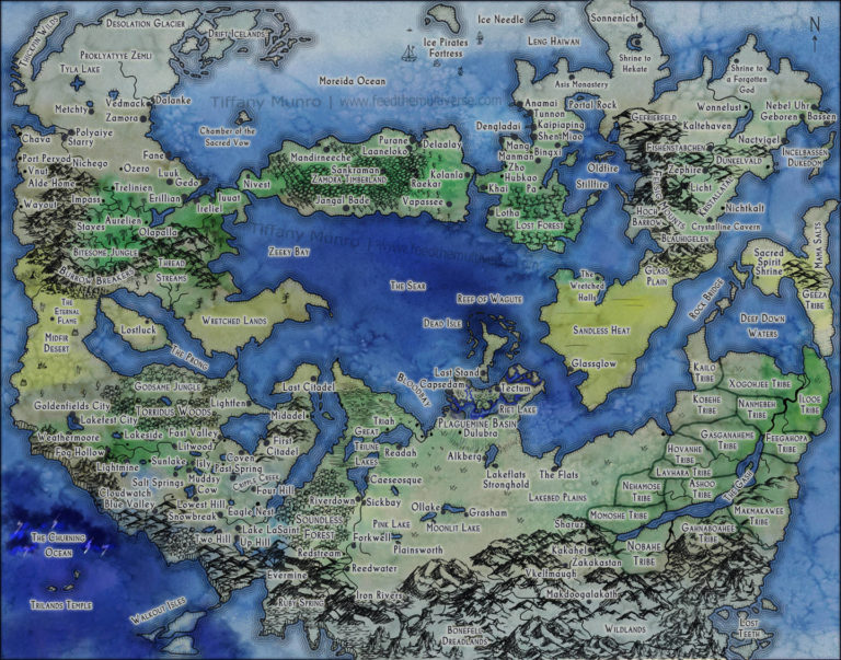 Stormtomes Large Fantasy World Map for RPG 5e Dungeons and Dragons game map