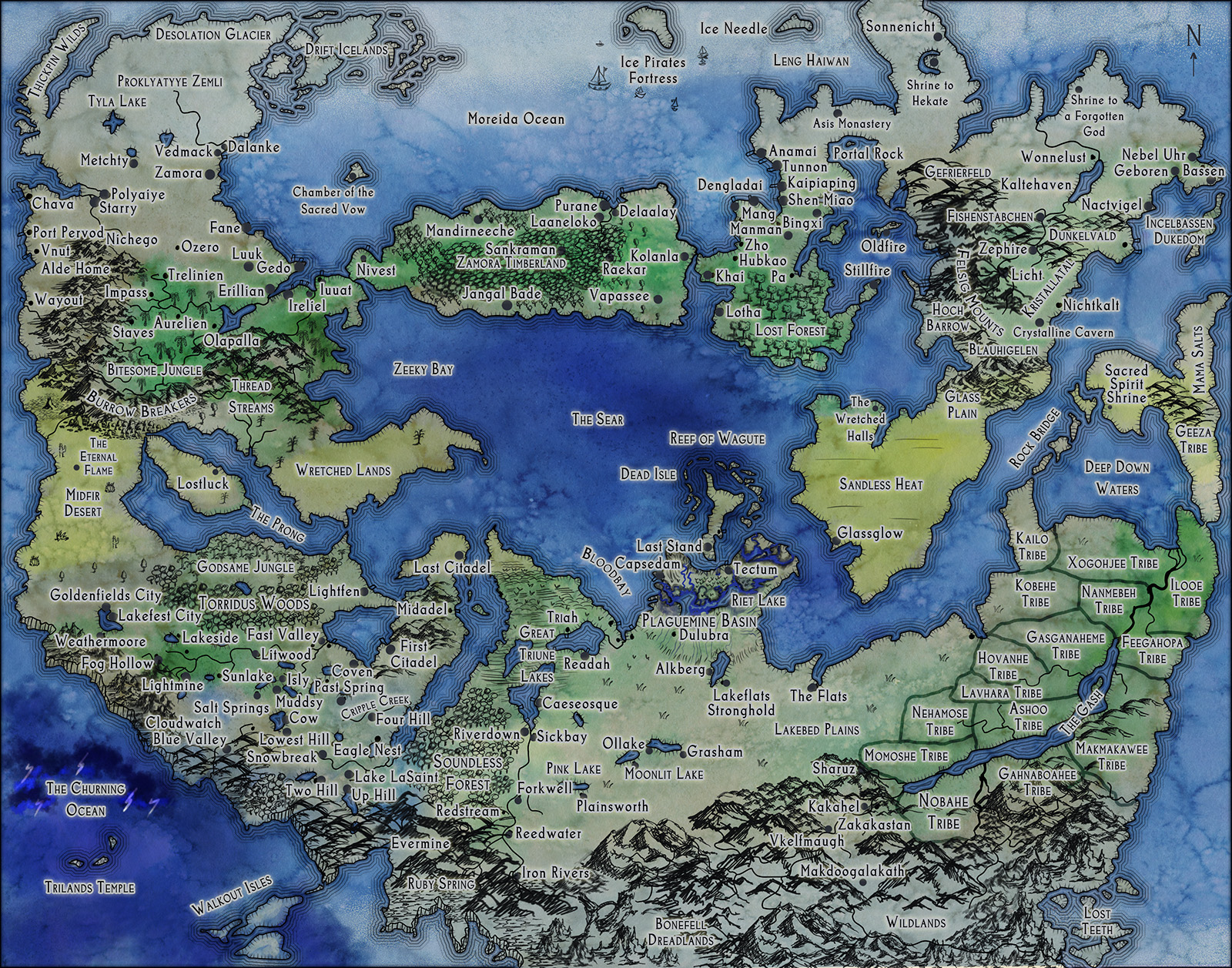 Stormtomes Large Fantasy World Map custom worldbuilding d&d dungeons and dragons pathfinder 5e 4e 3.5e systems agnostic world building cartographer consulting consultant make up worlds help dungeon masters professional gm pro game master run rpg mars style map for stormtomes dark blue realistic realm kingdom for explorers adventuring party make a custom fantasy map how do i hire someone to make me a custom fantasy world map how to get a fantasy cartographer get someone to make up fantasy names for me make up fantasy country names creative consultancy game building