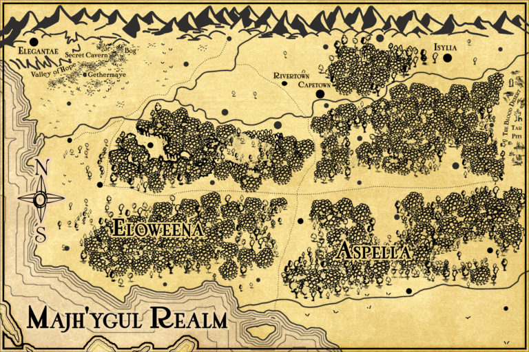 J.R.R. Tolkien Lord of the Rings inspired map insert for fantasy novel