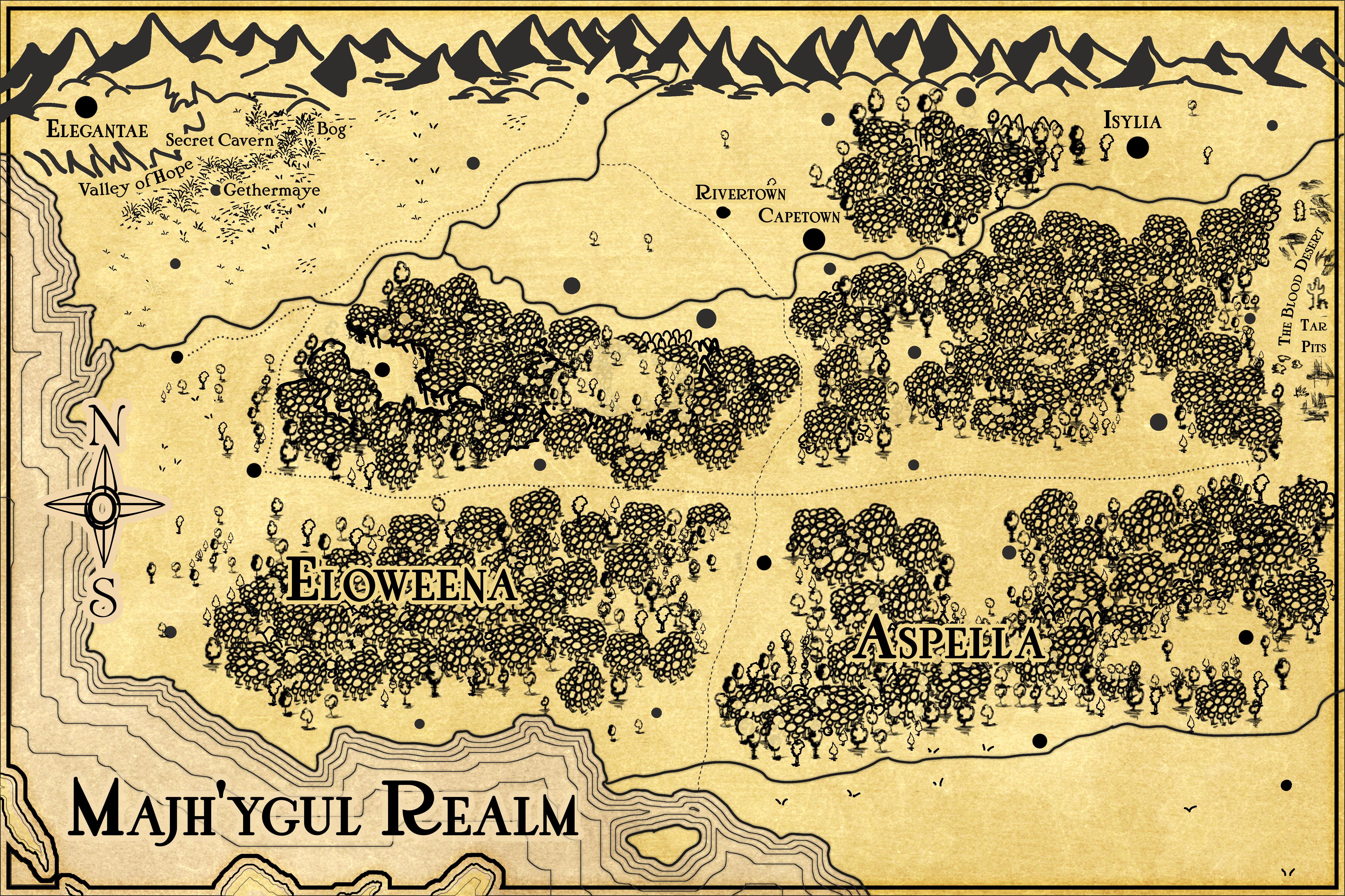 J.R.R. Tolkien Lord of the Rings inspired map insert for fantasy novel