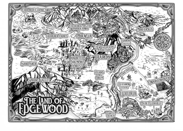 Edgewood Monsters and Mythos map