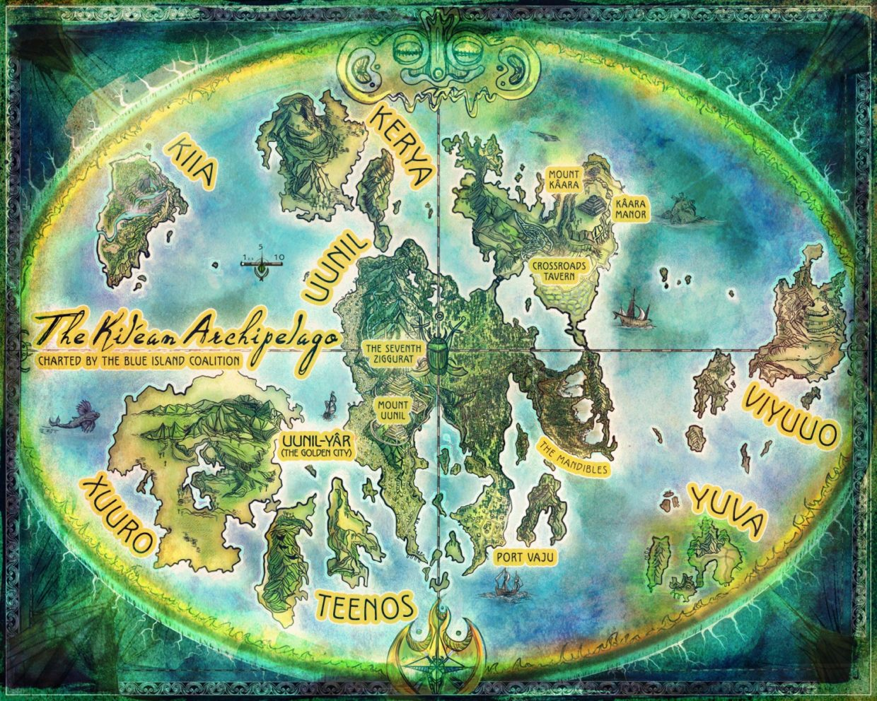 Map of the Kilean Archipelago for Enderal novel