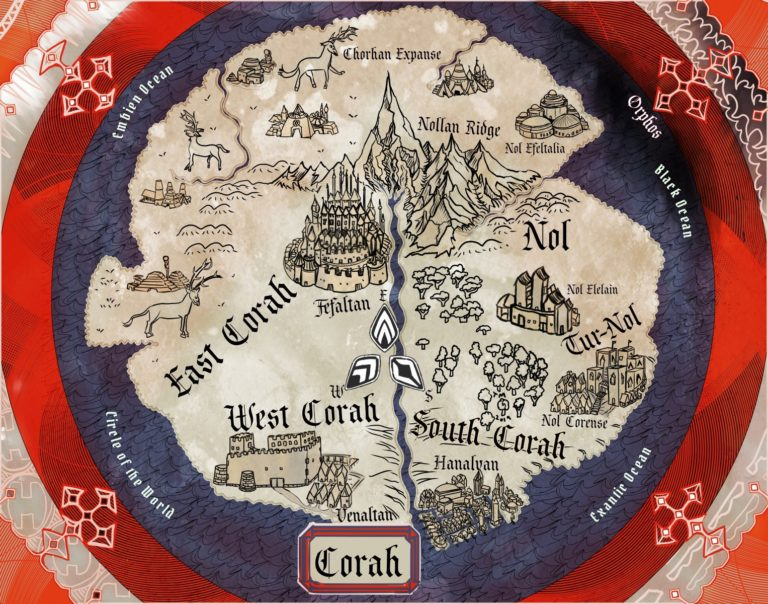 Corah T and O medieval style fantasy map
