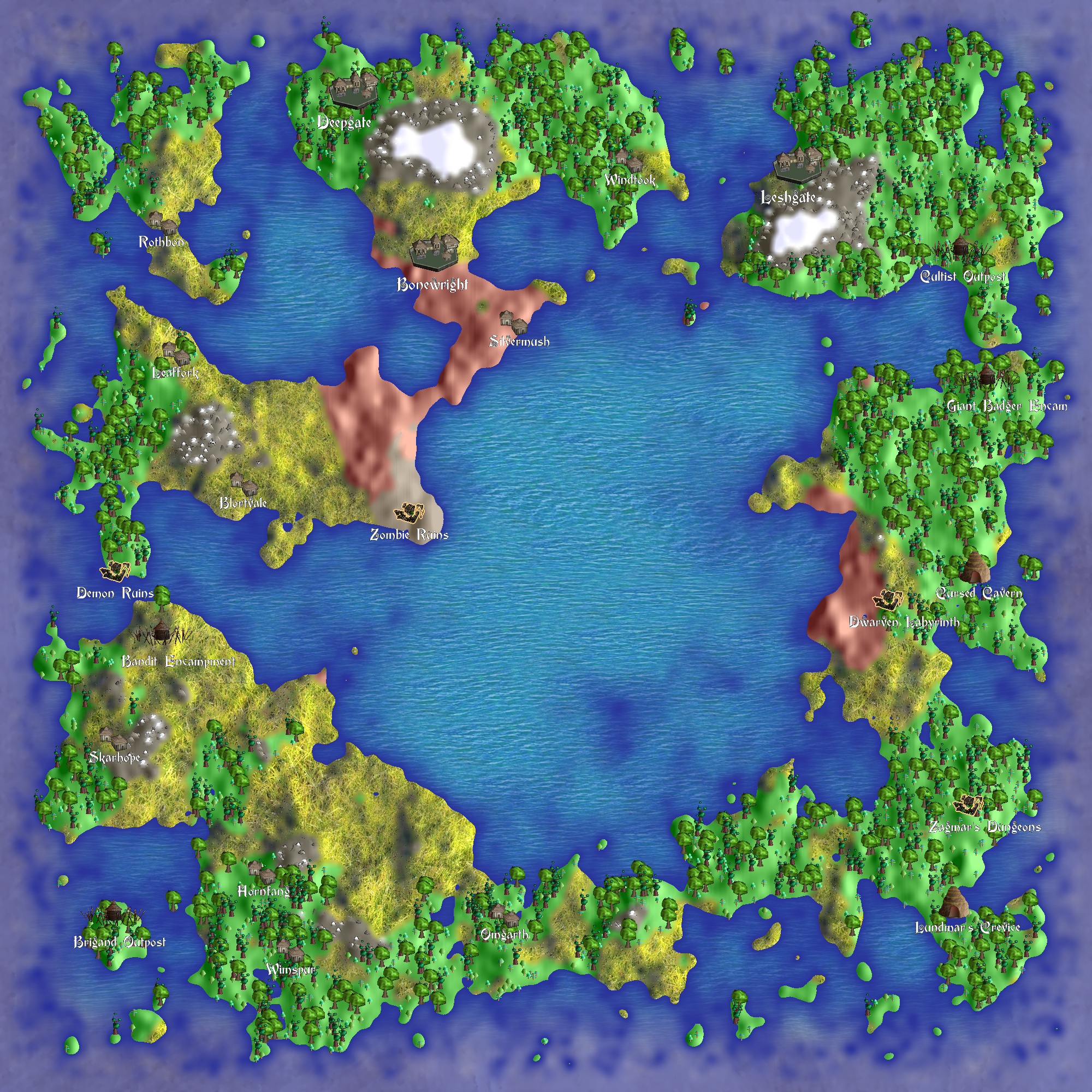 beaglemage fantasy map generator lets you create fantasy maps in Python for the geekiest method of map creation