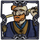 Man with red beard and axe Viking Norseman token