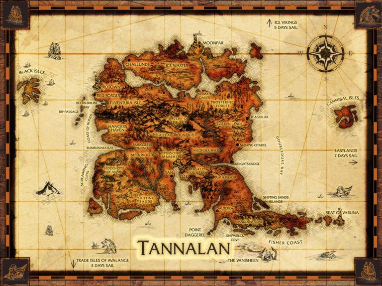 Map of Tannalan – fantasy cartography