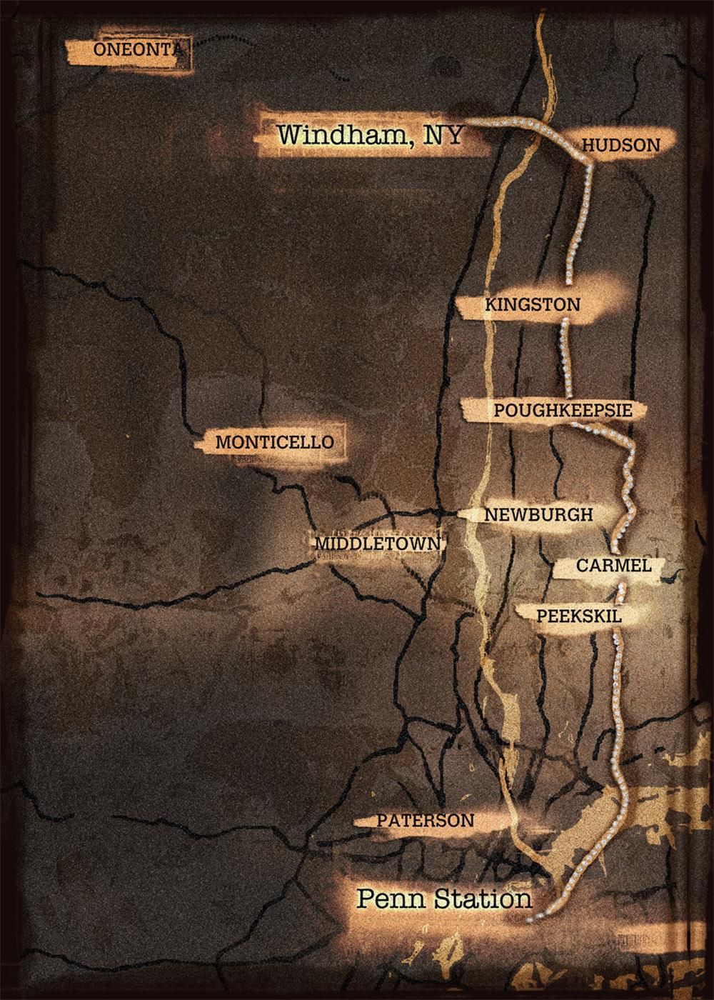 Post apocalyptic modern street map New York