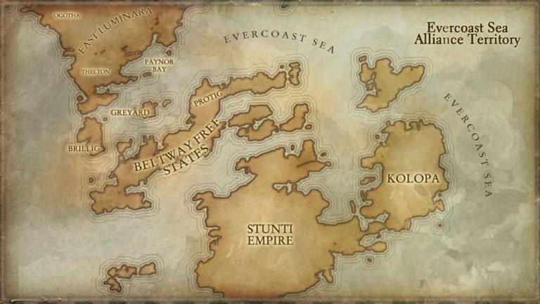 Multiple maps – for Evercoast Sea Alliance