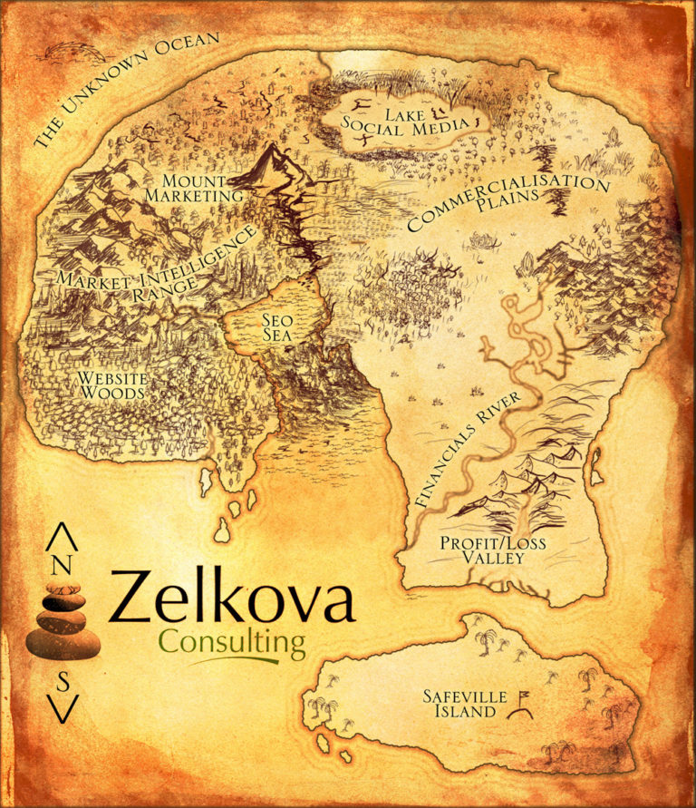 Zelkova Consulting – question mark mind map for a consulting service