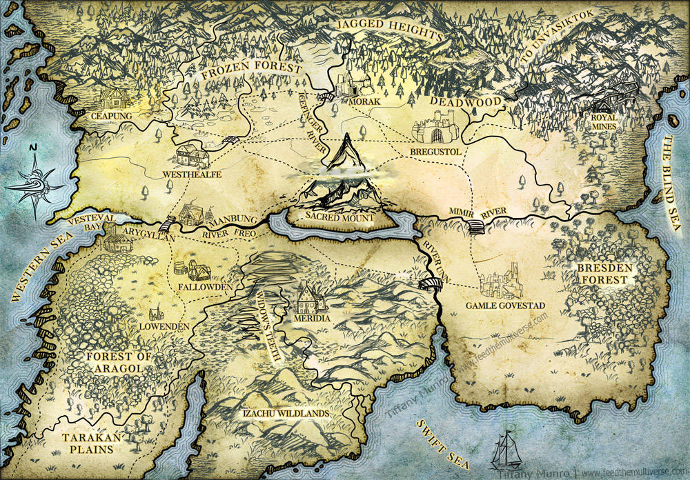 Ragnekai Winds fantasy map blue and parchment style custom fantasy cartography for novel get a map made for your fantasy book commission an artist to make a map for my novel Peter Buckshaw fantasy author
