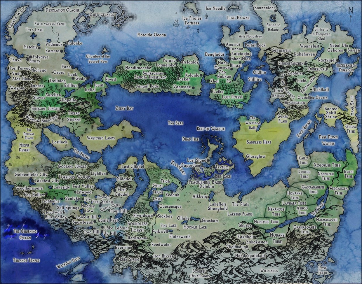 Fantasy World Map Stormtomes Large Fantasy World Map for RPG 5e Dungeons and Dragons  Fantasy World Map