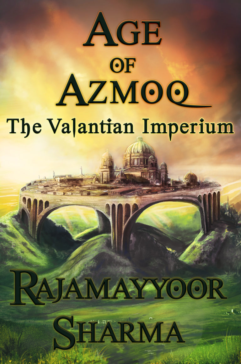 Fantasy City Painting – Cover Art for Age of Azmoq: The Valantian Imperium! (more images inside)