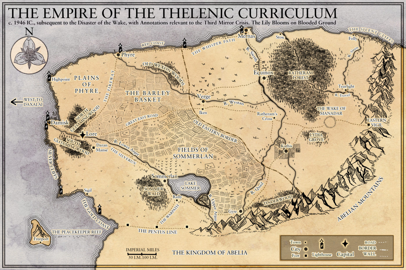 Map for an upcoming book by Author Tim Peers