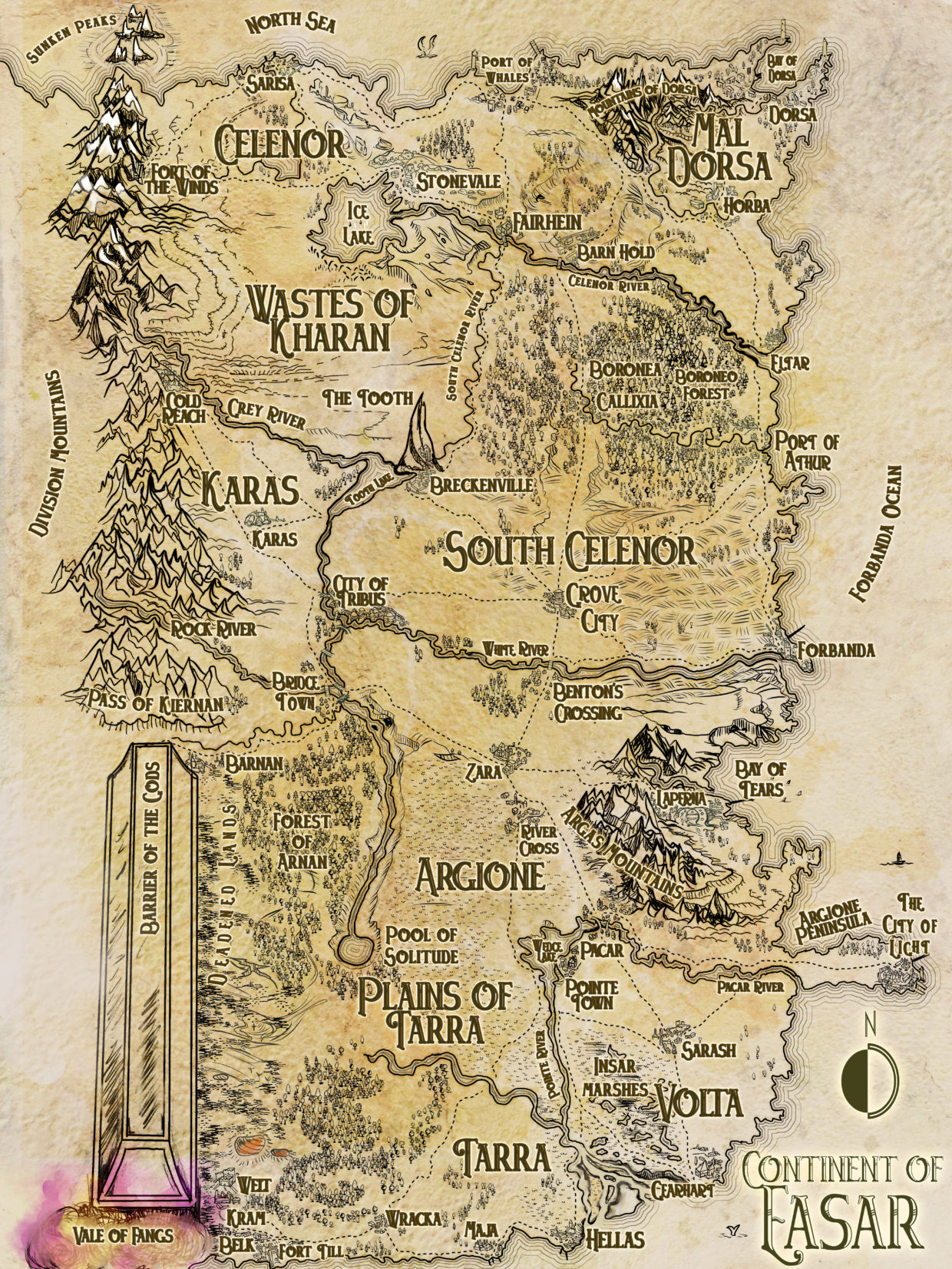 Dungeons And Dragons Map Continent of Easar   Dungeons and Dragons campaign map   Feed the