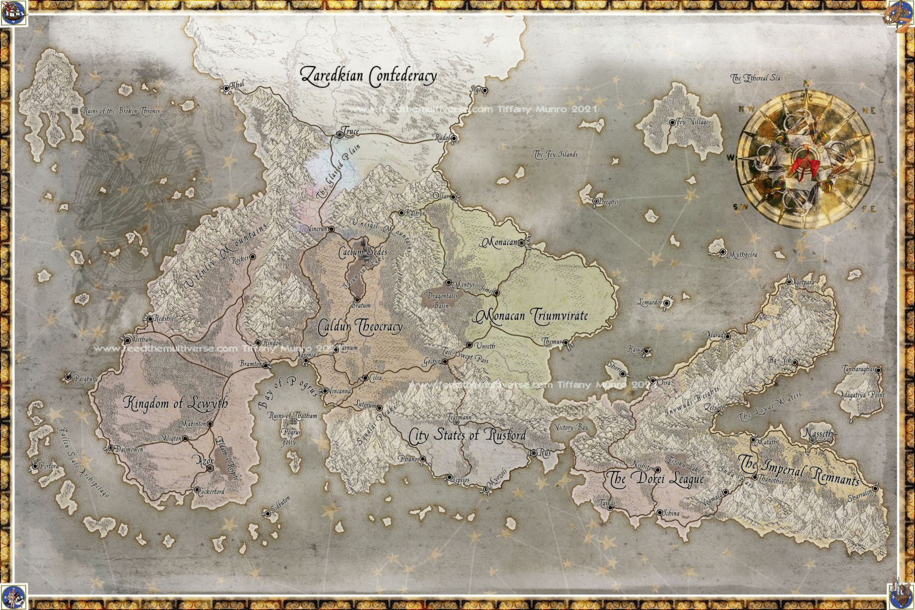 Parchment with light color fantasy map medieval fantasy RPG cartography cartographer get a custom map for your RPG dm GM game master dungeon master world building