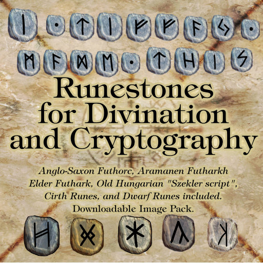 Runestones for Cryptography and Divination Elder Futhark Dwarf Cirth Hungarian Aramanian Anglo-Saxon