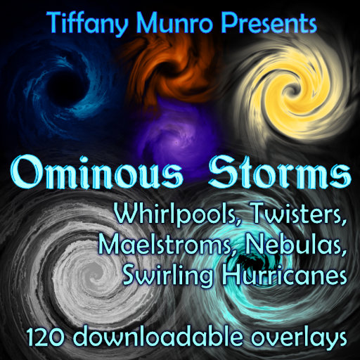 Ominous Storms whirlpools twisters maelstroms hurricanes nebulas swirling